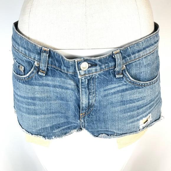 rag & bone 'The Mila' Denim Cutoff Shorts